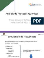 Análisis de Procesos Químicos - 04- Simulación - Flowsheet