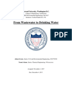 From Waste Water to Drinking Water - Howard University - Research Paper
