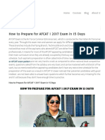 How to Prepare for AFCAT  Exam in 15 Days