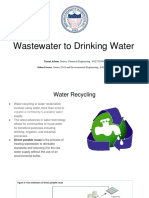 Wastewater to Drinking Water