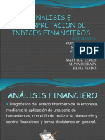 Analisis e Interpretacion de Indices Financieros