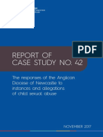 Case Study 42 Findings Report - The Responses of the Anglican Diocese of Newcastle to Instances and Allegations of Child Sexual Abuse