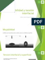 Mojabilidad y Tensión Interfacial