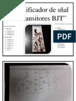 Amplificador de Sñal Con Transitores BJT
