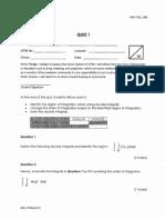 Answer Scheme Quiz 1 and Test 1