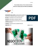 Monografía (Estrategia y Estructura de Los Negocios Internacionales)