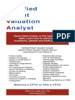 Certified Patent Valuation Analyst - Training