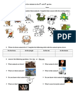 Animals Plural and Singular Forms