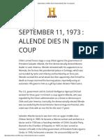 Allende Dies in Coup