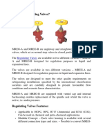 Regulating Valve | Maniks