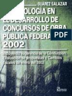 Metodologia en Desarrollo de Concursos de Obra Publica Federal 2002 - Ing. Carlos Suarez Salazar