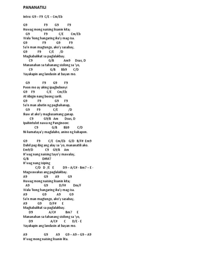 Pananatili chords hexwebz Image collections