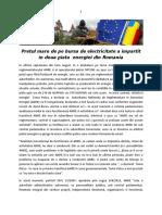 Pretul mare de pe bursa de electricitate a impartit in doua piata  energiei din Romania
