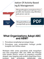 Implementation of Activity-Based Costing & Management