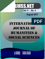 Vol 9 No 4 - August 2017