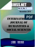 Vol 6 No 1 - November 2015