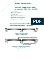 PSC Girder Design for Continuity