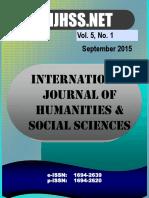 Vol 5 No 1 - September 2015