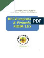 BEC Evangelization Formation Modules English
