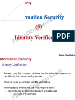 Information Security - Lecture 6,7 - Identity Verification