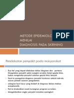 Metode Epidemiologi Untuk Menilai