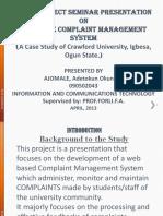 Seminar Presentation