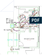 Security Kiosk Drainage Layout Plan