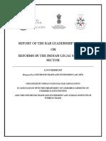 Report of the Bar Leadership Summit
