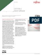 Data Sheet FUJITSU ETERNUS SF V16.4 Storage Management Software