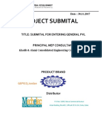 Submital Cover Page