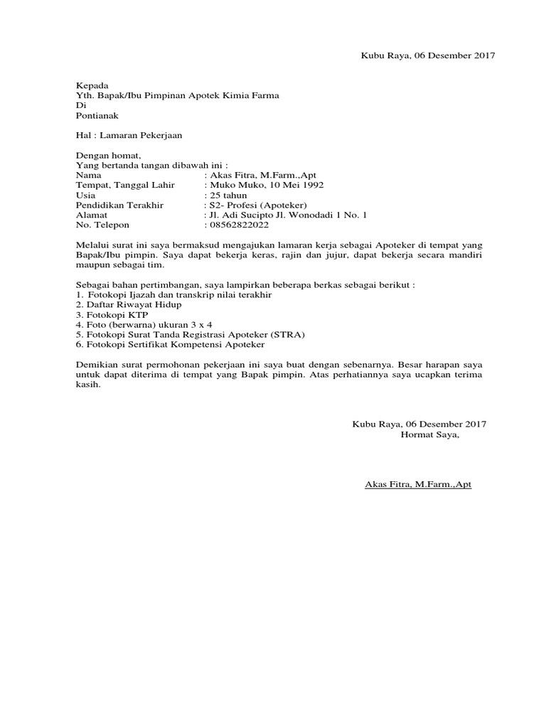 50+ Contoh Surat Lamaran Kerja Tulis Tangan Ke Puskesmas ...