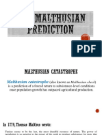 The Malthusian Prediction