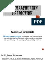 The Malthusian Prediction