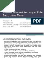 Analisis Interaksi Keruangan Kota Batu, Jawa Timur