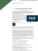 Golden Dawn - Meditation With the Archangel Gabriel