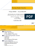 IPv6 Routing Header Security