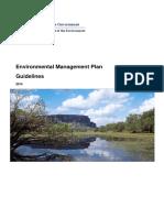 Environmental Management Plan Guidelines
