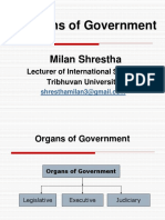 3 Organs of Government Legislature Executive and Judiciary