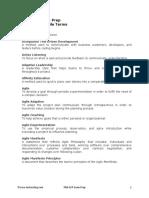 PMIACP Glossary