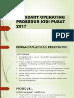 Standart Operating Prosedur Kidi Pusat
