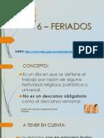 Bolilla 06 - Feriados