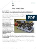 Advantages of Hydraulics for Motion Bases
