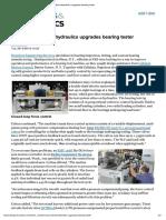 Closed-loop Electrohydraulics Upgrades Bearing Tester