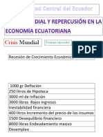 Recesión de Crecimiento Económico