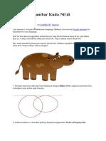 Cara Menggambar Kuda Nil Di CorelDRAW