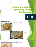 Hot Soup and Cold Specialty in the Philippines