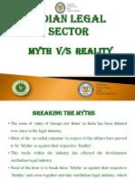 Presentation - Indian Legal Sector-Myth vs Reality