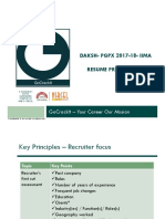 IIMA Daksh PGPX Resume Preparation