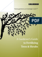 A Gardeners Guide - To Fertilizing Trees and Shrubs