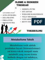 Kelompok 5 (S1 III a) Metabolisme Dan Ekskresi Toksikan